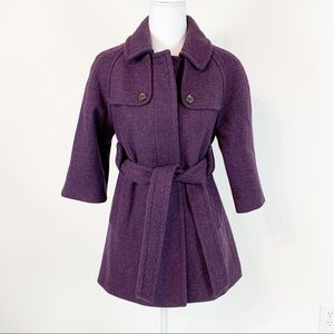 Gap Belted Trench Pea Coat wool blend jacket